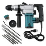 Hiltex 10504 1″ Electric Rotary Hammer Drill, 4.7 Amp | Includes 2 Chisels, 3 Drill Bits | 900 RPM, 3150 BPM