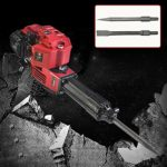 RanBB Demolition Jack Hammer, 1700W 52cc Petrol Demolition Jack Hammer Construction Concrete Breaker Punch Bits