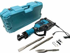 1700 Watt Light Weight Electric Jack Hammer Set for Digging and Breaking (Includes 3 Giant Bits)