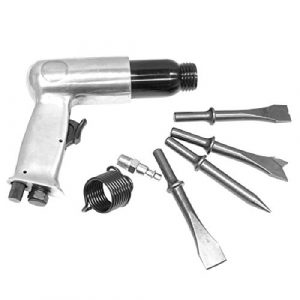 7pc Air Hammer and Chisel Set Kit 150MM Impact Punch Auto Body