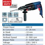 Bosch GBH 2-26 DRE Professional Rotary Hammer of 26 mm with SDS Plus