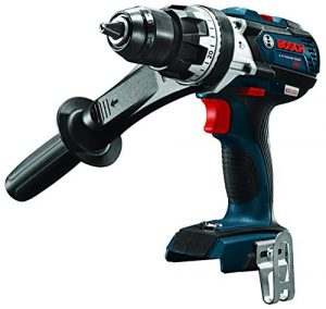 Bosch HDH183B 18V EC Brushless 1/2 In. Hammer Drill/Driver (Bare Tool), Blue (Renewed)