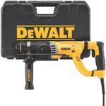 DEWALT Rotary Hammer Drill with Shocks, D-Handle, SDS, 1-1/8-Inch (D25263K)