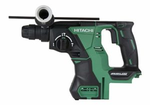 Hitachi DH18DBLP4 18-Volt Lithium Ion Cordless Brushless SDS Plus 1″ Rotary Hammer (Tool Only, No Battery) (Certified Refurbished)