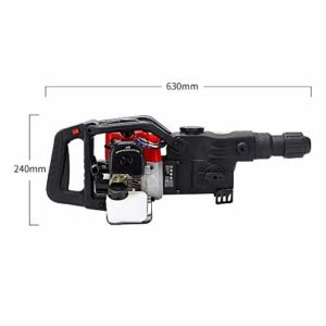 3in1 1800W Heavy Duty Electric Demolition Jack Hammer Concrete Breaker Power Tool Multifunction Gasoline Demolition Hammer Kit