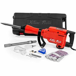 (GG) 2200W 1900RPM Electric Demolition Jack Hammer Concrete Breaker Punch Chisels HD