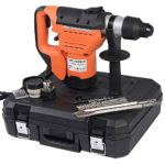SDS Rotary Hammer,1100W 110VElectric Rotary Hammer Drill it comes with drill bits, chisels, lubrication, boot, gloves,1-1/2″ SDS Electric Hammer Drill Set