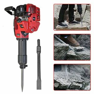 Gas Powered Demolition Jack Hammer Concrete Breaker Punch Chisel Bits 1700W 52cc