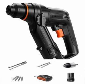 LCYCN 12V Rechargeable Rotary Hammer, Multifunctional Household Rechargeable Impact Drill Concrete Dual Purpose Electric Drill Electric Screwdriver