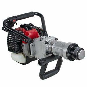 Tinsay 35cc Gas Powered T-Post Driver Gasoline Engine 2 Stroke Fence Post Driver Jack Hammer Push Pile Driver 1700~2230BPM
