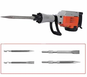 Electric Demolition Hammer, Breaking Hammer, 360° Rotating Handle Powerful Demolition Hammer Drill [2050W, 220V Voltage]