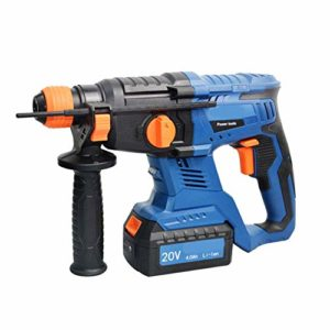 3 in 1 Hammer Drill, Duty Rotary Hammer Drill 3 Function and Adjustabl Soft Grip Handle 20V 4.0Ah 26Mm Drilling Diameter LMMS