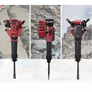 52CC 2 Stroke Gasoline Demolition Jack Hammer Construction Concrete Floor Stone Breaker Punch Drill Chisel 2.4HP 1700w 1500BPM