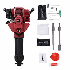 BEAMNOVA Gas Powered Jack Hammer Drill Kit Cordless Concrete Breaker Industrial Demolition Hammer