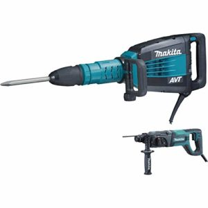 Makita HM1214CX 27-Pound AVT Demolition Hammer, Blue