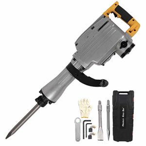 Monkey King Bar- 110v Heavy Duty Electric Demolition Jack Hammer MKB-65A- Chisel & Point Chisel Bit Hand Gloves w/Case
