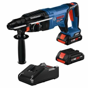 Bosch GBH18V-26DK25 18V EC Brushless SDS-plus Bulldog 1 In. Rotary Hammer Kit with (2) CORE18V 4.0 Ah Compact Batteries