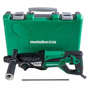 Metabo HPT Rotary Hammer, 1-1/8″, SDS Plus, 3-Mode, D-Handle, User Vibration Protection (DH28PFY)