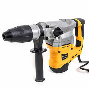 Monkey King Bar-Sds Max 120V 1500W 1300BPM,4200BPM Electric Rotary Hammer Drill for Concrete with UVP User Vibration Protection- Includes SDS Max Demolition Kit, Flat and Point Chisels with Case
