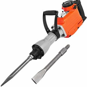 Mophorn 2200W Electric Demolition Hammer Heavy Duty Concrete Breaker 1400 BPM Jack Hammer Demolition Drills with Flat Chisel Bull Point Chisel (2200 W)