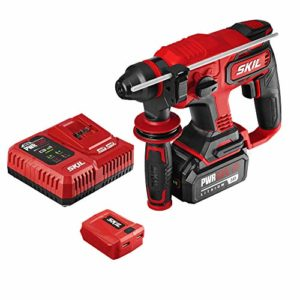 SKIL PWRCore 20 Brushless 20V 7/8″ Rotary Hammer Kit, Includes 5.0Ah Battery, PWRJump Charger and PWRAssit USB Adapter – RH1704-1A