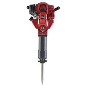 1700W 2 Stroke Heavy-duty Electric Gasoline Demolition Jack Hammer 52CC Single Cylinder Concrete Breaker Drill Punch with 2 Chisel Flat Pointed Chisel