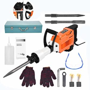 3500W Electric Demolition Jack Hammer 2.17-ft DIY Concrete Breaker,with Anti-Vibration Design(shipped locally from the US)