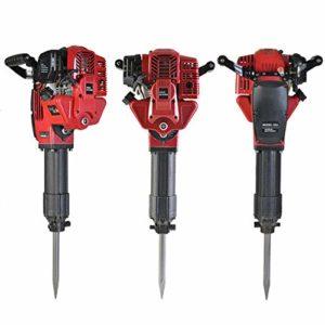 Heavy Duty Gasoline Demolition- Electric Hammer Demolition Jack Hammer Drill Concrete Breaker Power Tool Kit,52CC Single Cylinder Concrete Breaker w/2 Chisel