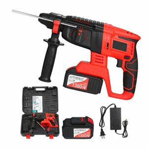 Doneioe 21V Brushless Cordless Rotary Hammer Drill 1 Inch SDS Plus Variable Speed Impact Hammer Kit 20000mAh Battery 4 Functions Variable-Speed Adjustable Handle with Storage Case