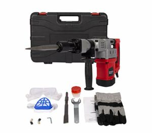 1280W 12.5 AMP Electric Demolition Jack Hammer Heavy Duty Concrete Breaker Drills Kit with Carrying Case Gloves Goggle and Removal tools
