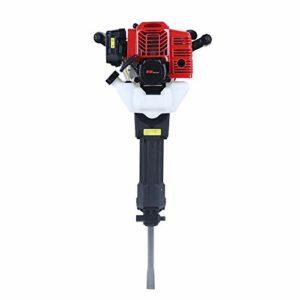 52CC 2-Stroke Heavy Duty Gasoline Petrol Demolition Jack Hammer Concrete Breaker,Single Cylinder Concrete Floor Stone Breaker Punch Drill Chisel,Air Cooling