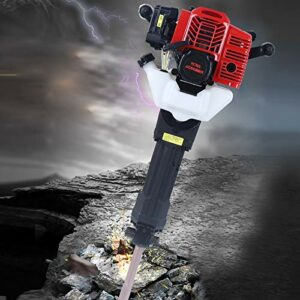 52CC Hand Pull Start Demolition Hammer Gas Powered Heavy Duty Demolition Drill×2 Concrete Breaker Digger (type B)