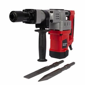 Goodliest 1-1/2inch SDS-Plus 12.5 Amp Heavy Duty Hammer Drill, Portable Electric Demolition Jack Hammer Concrete Breaker Trigger Hand Tool Black Red