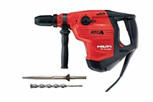 120-Volt SDS-MAX TE 70-ATC-AVR Corded Rotary Hammer Drill Kit with Pointed Chisel and TE-YX SDS-MAX Style Drill Bit