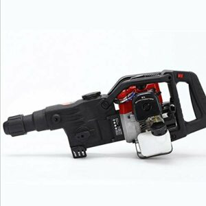 32.7CC Gasoline Jack Hammer 2 Stroke Jack Hammer 1800W Concrete Breaker Drill 3 in1 Gas Impact Drill Power Hammer Demolition Jack Hammer Heavy Duty Concrete Breaker Pile Piling Driver Chisel
