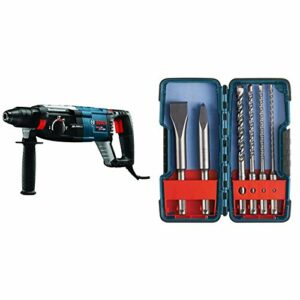 Bosch GBH2-28L 1-1/8″ SDS-plus Bulldog Xtreme Max Rotary Hammer and Bosch 6 Piece SDS-plus Masonry Trade Bit Set, Chisels and Carbide, HCST006