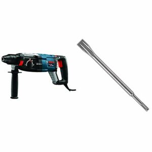 Bosch GBH2-28L 1-1/8″ SDS-plus Bulldog Xtreme Max Rotary Hammer and Bosch HS1470 SDS Plus Viper Long Life Chisel