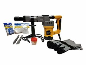 Concrete Demolition Hammer Drill with Chisel and Spike
