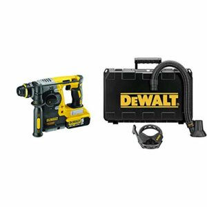 DEWALT 20V MAX SDS Rotary Hammer Drill, Tool Only (DCH273B) & DWH052K Large Hammer Dust Extraction – Demolition