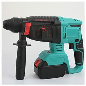 Bluetooth earphone Electric Hammer Drill, Professional 68V Brushless Cordless Rotary Hammer, 4 Modes, 1,400 RPM Variable Speed Adjustable Handle Rotary Concrete Breaker for Home Renovation
