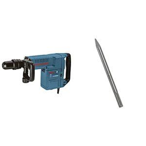 Bosch 11316EVS SDS-Max Demolition Hammer & HS1913 12 In. Bull Point SDS-max Hammer Steel