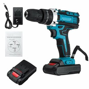 Cordless Drill Driver Electric Screwdriver Set 2 Speed, 48V Lithium-Ion Power Cordless, LED, 25+3Speed Drills Impact 3 Functions Rotary Hammer With Battery