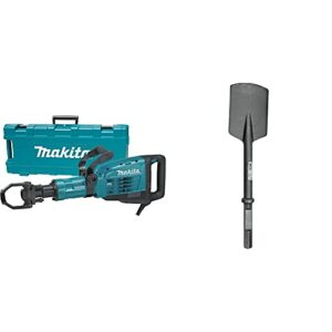 Makita HM1307CB 35-Pound Demolition Hammer, Blue & 751622-A 5-1/2″ x 20″ Clay Spade, 1-1/8″ Hex