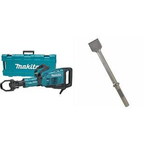 Makita HM1307CB 35-Pound Demolition Hammer, Blue & Bosch HS2164 20 In. 3 In. Chisel 1-1/8 In. Hex Hammer Steel