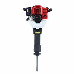 TBVECHI 52cc 2-Stroke Jack Hammer, Gasoline-Powered Demolition Jack Rock Drill with Funnel for Construction Road Construction