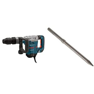 BOSCH 11321EVS Demolition Hammer – 13 Amp 1-9/16 in. Corded Variable Speed SDS-Max Concrete Demolition Hammer with Carrying Case & HS1904 SDS-max 16″ Rtec Bull Point Chisel