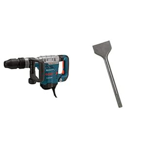 BOSCH 11321EVS Demolition Hammer – 13 Amp 1-9/16 in. Corded Variable Speed SDS-Max Concrete Demolition Hammer with Carrying Case & HS1910 Scaling Chisel 3-Inch by 12 Inch SDS max