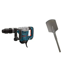 BOSCH 11321EVS Demolition Hammer – 13 Amp 1-9/16 in. Corded Variable Speed SDS-Max Concrete Demolition Hammer with Carrying Case & HS1922 4-1/2″ x 17″ Clay Spade SDS-Max shank