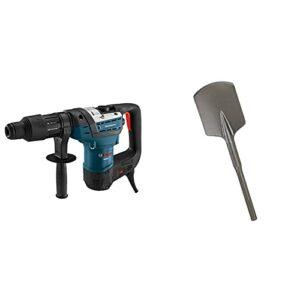 Bosch 1-9/16-Inch SDS-Max Combination Rotary Hammer RH540M, Blue & HS1922 4-1/2″ x 17″ Clay Spade SDS-Max shank