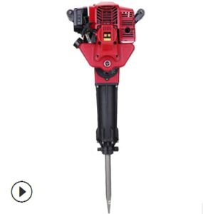 CNCEST 52CC Gasoline-Powered Breaker Hammer, Demolition Hammer, Impact Drill, Double Insulated Plugs Dual Use Gasoline Power Hammer Drilling Machine and Picks Tools